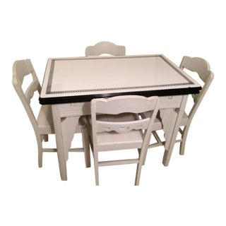 Enamel Kitchen Table and Chairs For Sale