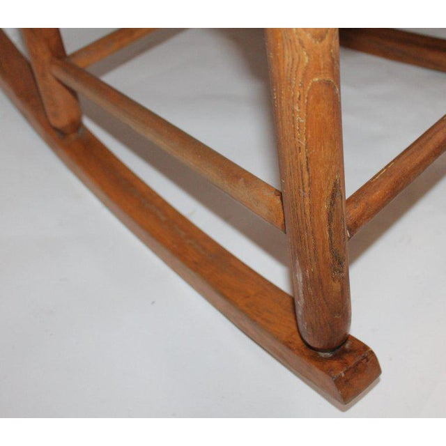 Early 20th Century South West Rocking Chair in Cowhide Seat For Sale In Los Angeles - Image 6 of 12