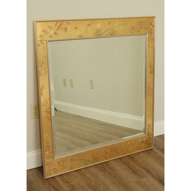 High Quality Reverse Painted Glass and Metal Frame Wall Mirror by Labarge Store Item#: 24276