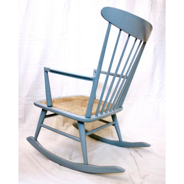 Danish Modern Vintage Mid Century Danish Modern Rocking Chair For Sale - Image 3 of 9