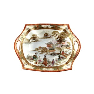 Antique Royal Kaga Nippon Hand Painted Porcelain Handled Bowl For Sale