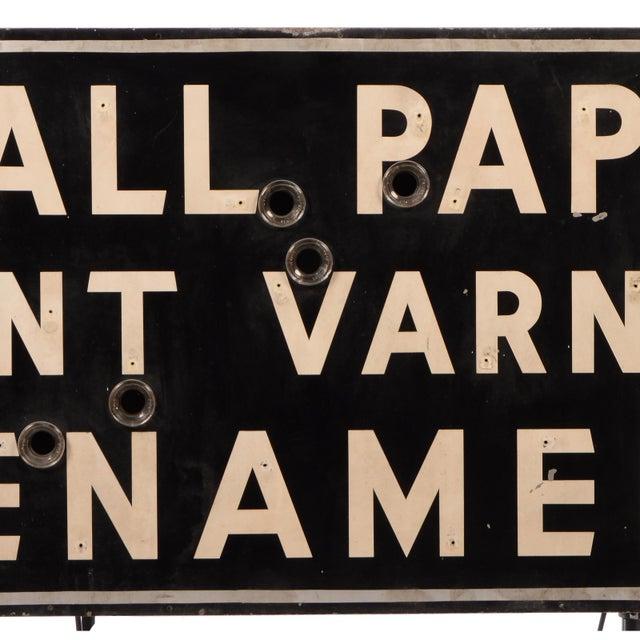 "Lights Art Deco ""Wallpaper, Paint, Varnish, Enamel"" Neon Sign For Sale - Image 7 of 10"