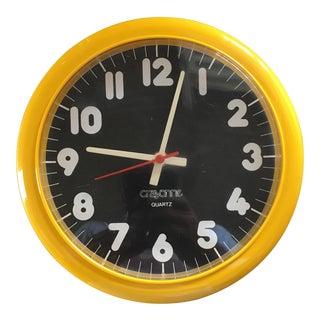 Vintage Mid Century Modern Crayonne Wall Clock