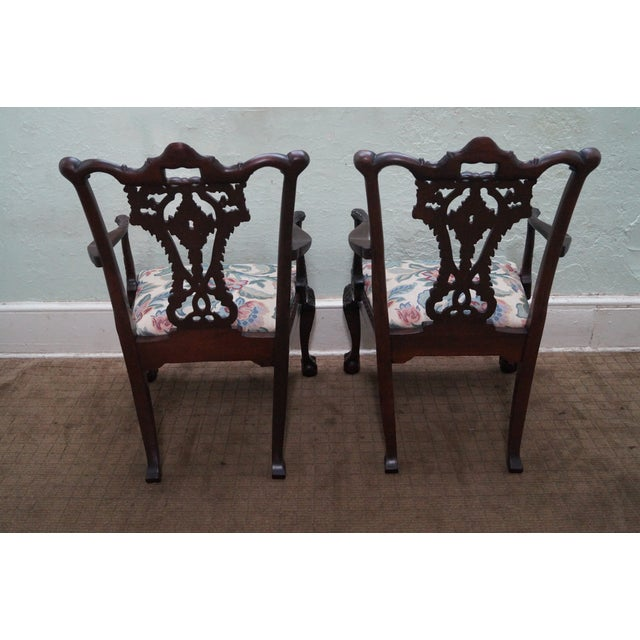 Honduras Mahogany Carved Dining Chairs - Set of 8 - Image 7 of 10