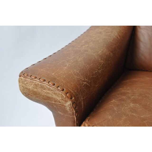 Early 20th Century Aage Christiansen Danish Leather Sofa, 1960s For Sale - Image 5 of 9