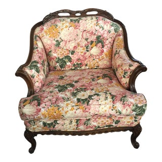 Carved French Bergere For Sale