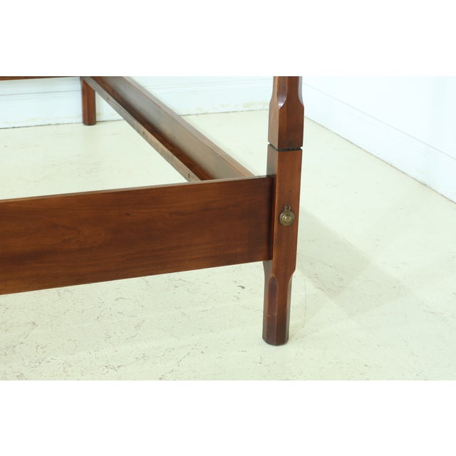Traditional Statton Old Towne Cherry Full Size Poster Bed For Sale - Image 3 of 9