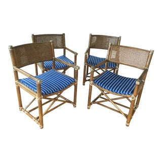 Hollywood Regency McGuire Bamboo Cane Chairs - Set of 4