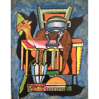 Mid-Century Modern Camel Still Life 1950s For Sale