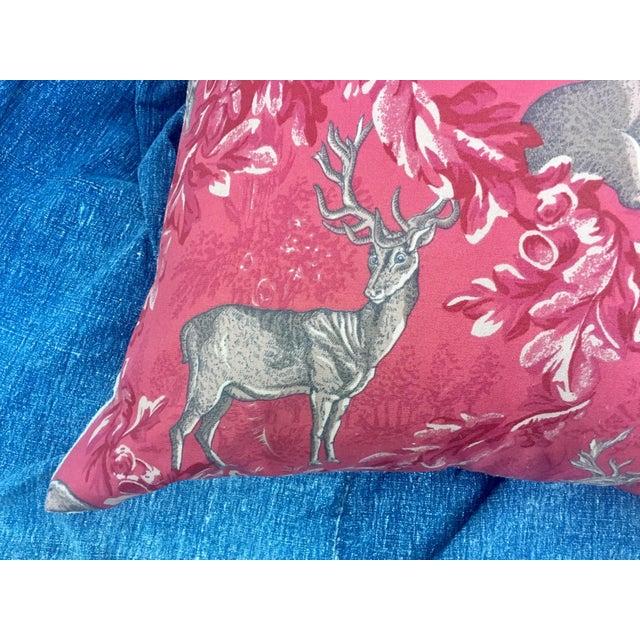 Vintage F. Schumacher Woburn Meadow Deer Pillows - A Pair - Image 6 of 10