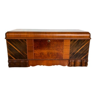 Art Deco Waterfall Storage Trunk For Sale