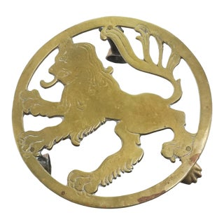 Brass Lion Stand Pedestal For Sale