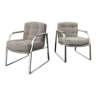 Mid Century Modern Chrome Office Chairs by Reitter Design Studio - a Pair For Sale