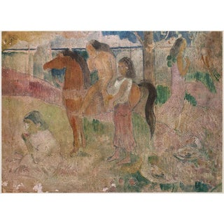 1959 American Classical Lithograph of Gauguin Tahitian Scene For Sale