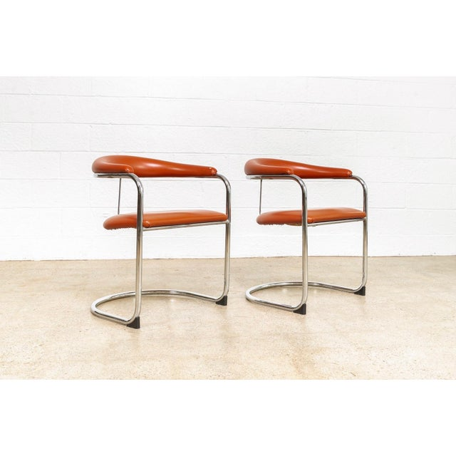 These vintage mid century model SS33 armchairs circa 1970 were designed by Hungarian designer Anton Lorenz for Thonet in...