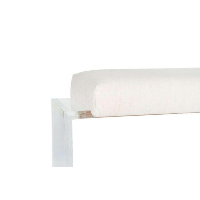 Modern Customizable Moller Lucite Upholstered Bench For Sale - Image 3 of 4