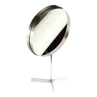 Chrome Adjustable Table Mirror For Sale