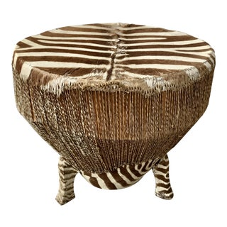 Bohemian Chic Zebra Side / Drum Table
