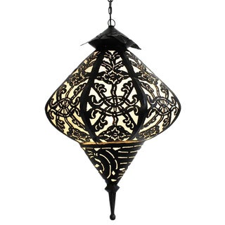 Metal Work Medium Diamond Lantern For Sale