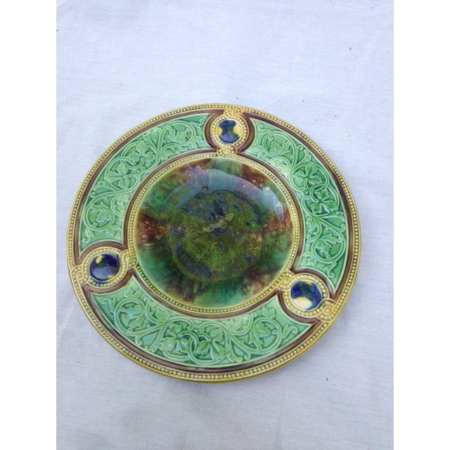 Antique Majolica Wall Plate - Image 2 of 5