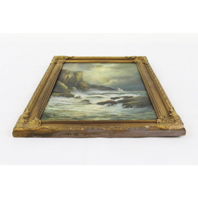 Late 19th Century Oil on Board Seascape Painting For Sale - Image 4 of 11