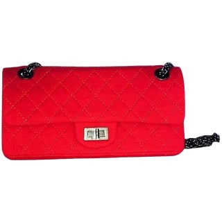 Red Quilted Chanel Handbag / Purse Serial 11642905 For Sale