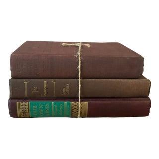 Vintage Decorative Books — Set of 3 For Sale