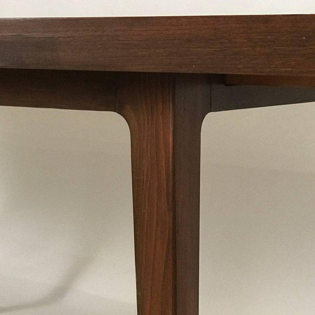 Brown Stunning Midcentury Edward Wormley for Drexel Walnut Extension Dining Table For Sale - Image 8 of 11
