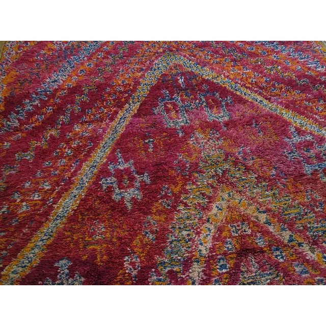 Primitive Beni Mguild Moroccan Berber Carpet For Sale - Image 3 of 10