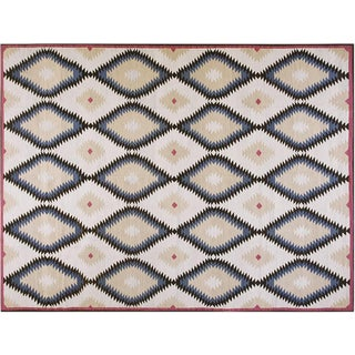 Diamond Navajo Style Rug - 10′ × 14′ For Sale