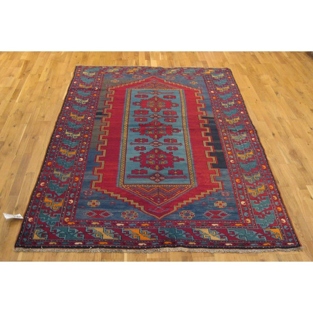 Antique Turkish Kazak Rug - 5′7″ × 8′1″ For Sale - Image 9 of 9