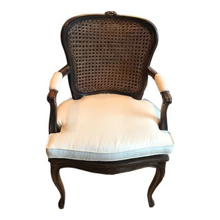 Ethan Allen Italian Caned Back Chair