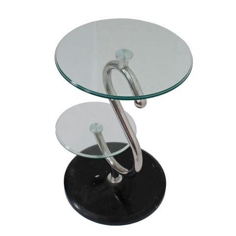 2-Tier Glass Top Lamp Table - Image 1 of 3