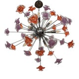 Image of Contemporary Murano Glass Flowers Sputnik Chandelier For Sale