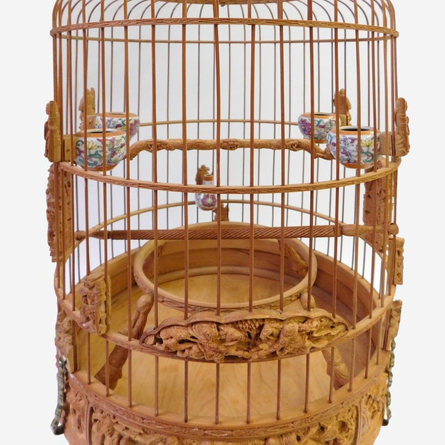 Bamboo Warfield Carving Birdcage - Image 3 of 10