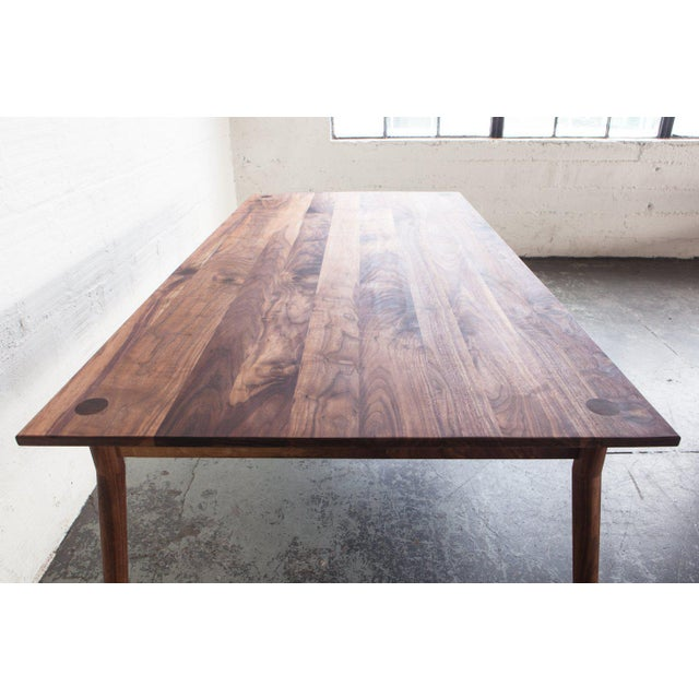 2010s Mid-Century Modern Fernweh Woodworking Black Walnut Dining Table For Sale - Image 5 of 7