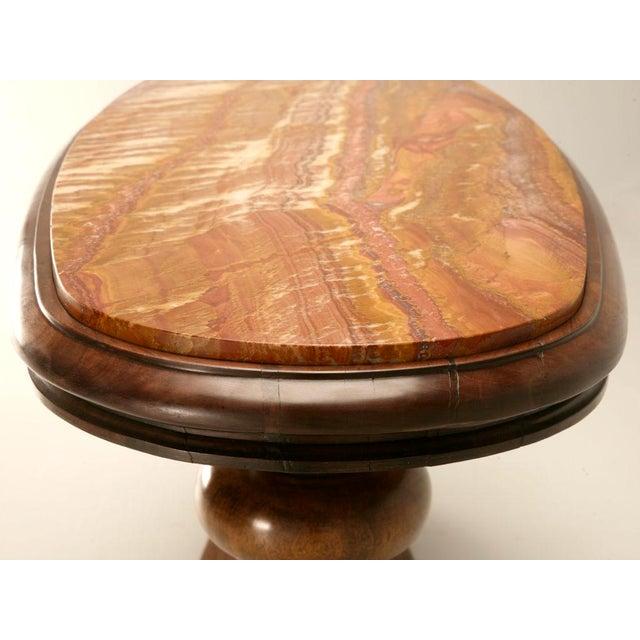 Superb Austrian Art Nouveau Oval Console Table With Bronze