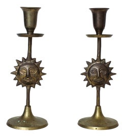 Image of Brass Candle Holders