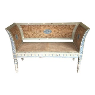 French Cane Settee For Sale
