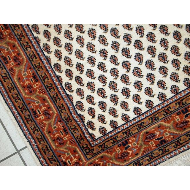 Vintage Handmade Indian Seraband Style Rug - 4′ × 5′8″ - Image 5 of 10