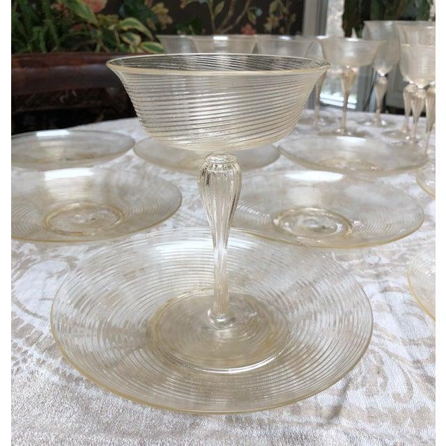 Vintage Venetian Glassware/Barware - 32 Piece Set For Sale - Image 4 of 8