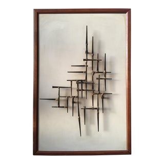 Mid-Century Nailhead Wall Art For Sale
