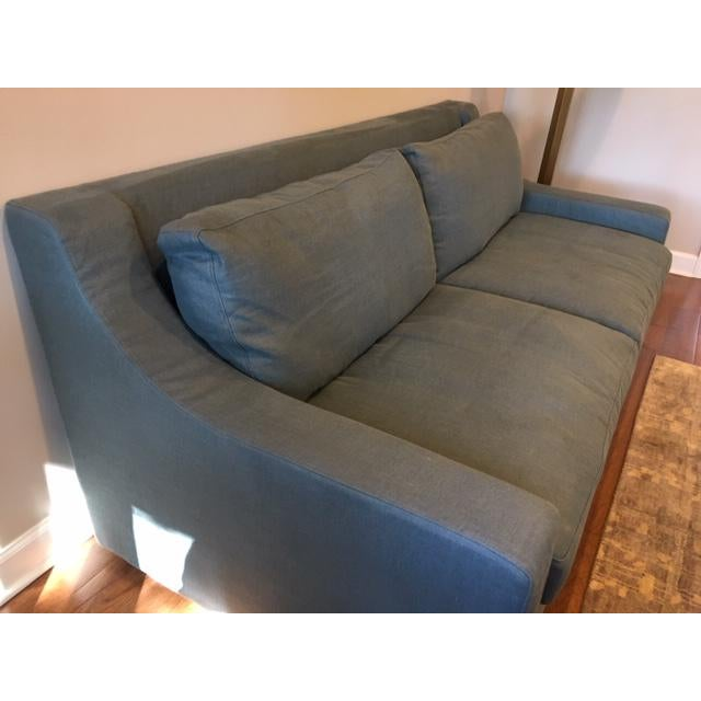 Restoration Hardware Restoration Hardware Parisian Classic Slope Arm Sofas - a Pair For Sale - Image 4 of 5