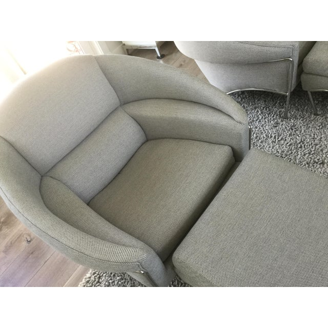 Modern Milo Baughman for Thayer Coggin Boldido Chairs and Ottomans- a Pair For Sale - Image 9 of 11