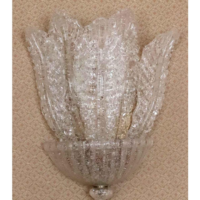 Barovier & Toso Waldorf Deco Barovier & Toso Italian Venetian Sconce For Sale - Image 4 of 8