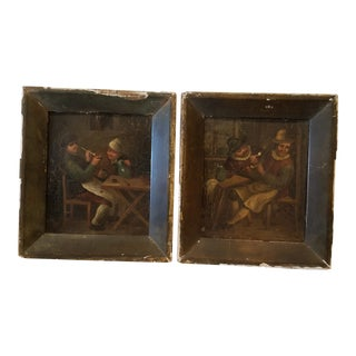 Pair of Dutch Paintings For Sale