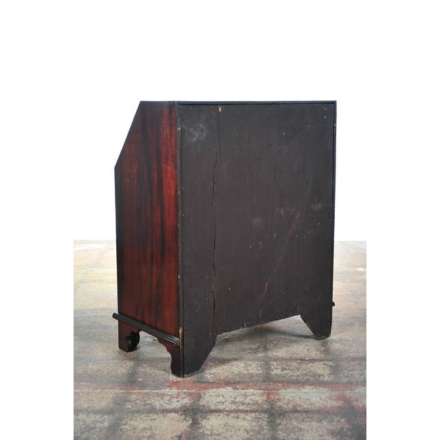 Wood 19th C. English Inlaid Mahogany Drop Desk For Sale - Image 7 of 11