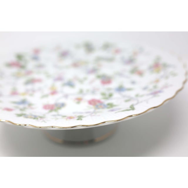 """White Vintage """"Corona"""" Floral Chintz Serving Pieces by Sadek - Set of 3 For Sale - Image 8 of 11"""