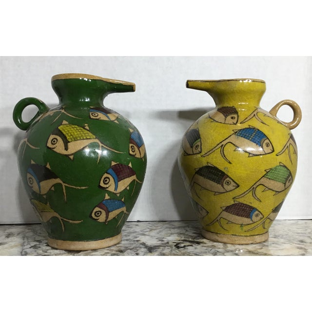 Vintage Persian Ceramic Vessels - A Pair - Image 4 of 11
