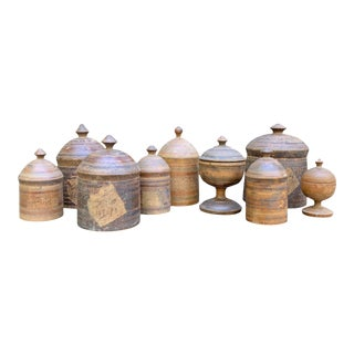 Set of Nine 19th Century Afghani Spice Boxes For Sale